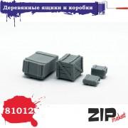 81012 ZIPmaket Деревянные ящики и коробки, 1/35